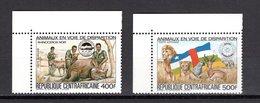 CENTRAFRIQUE PA N° 293D + 293E  NEUFS SANS CHARNIERE COTE 13.00€  ANIMAUX - República Centroafricana
