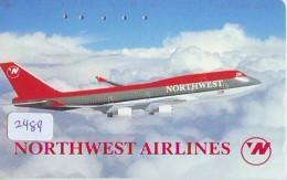 Télécarte  JAPON * NORTHWEST AIRLINES *  (2489)  AVIATION * AIRLINE Phonecard  JAPAN AIRPLANE * FLUGZEUG - Airplanes
