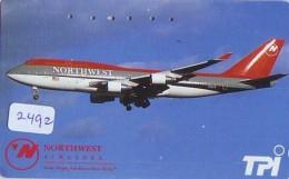 Télécarte  JAPON * NORTHWEST AIRLINES *  (2492)  AVIATION * AIRLINE Phonecard  JAPAN AIRPLANE * FLUGZEUG - Airplanes