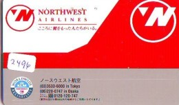 Télécarte  JAPON * NORTHWEST AIRLINES *  (2496)  AVIATION * AIRLINE Phonecard  JAPAN AIRPLANE * FLUGZEUG - Avions