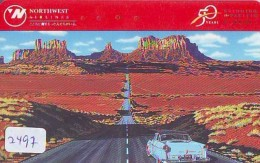 Télécarte  JAPON * NORTHWEST AIRLINES *  (2497)  AVIATION * AIRLINE Phonecard  JAPAN AIRPLANE * FLUGZEUG - Avions