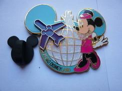 Big Pin S Disney Double Moule L Avion Bouge 4,5 X 3,5  Cm - Disney