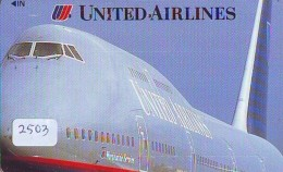 Télécarte  JAPON * UNITED AIRLINES *  (2503)  AVIATION * AIRLINE Phonecard  JAPAN AIRPLANE * FLUGZEUG - Avions