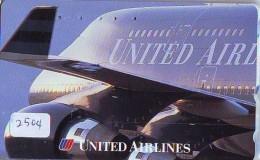 Télécarte  JAPON * UNITED AIRLINES *  (2504)  AVIATION * AIRLINE Phonecard  JAPAN AIRPLANE * FLUGZEUG - Flugzeuge