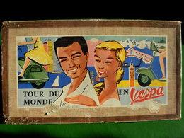 JEU SOCIETE  -  TOUR DU MONDE EN VESPA  -  Capiépa 1953 - Toy Memorabilia