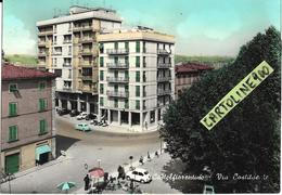 Toscana-firenze-castelfiorentino Via Costituente Veduta Via Auto Epoca Piazza Case Negozi Animata Anni 50/60 - Italia