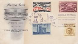 SOUVENIR COVER US PAVILION  - BRUSSELS - OCT 18 1958   /1 - Verenigde Staten