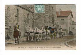 Cpa LE PERRAY équipage De M Le Comte De Potocki La Poste Allemande Très Bel Attelage Colorisé 1905 - Le Perray En Yvelines