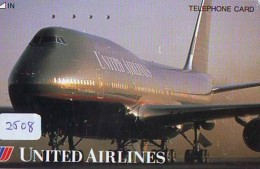 Télécarte  JAPON * UNITED AIRLINES *  (2508)  AVIATION * AIRLINE Phonecard  JAPAN AIRPLANE * FLUGZEUG - Airplanes