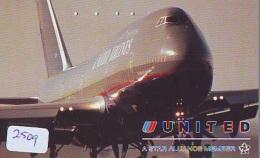 Télécarte  JAPON * UNITED AIRLINES *  (2509)  AVIATION * AIRLINE Phonecard  JAPAN AIRPLANE * FLUGZEUG - Avions