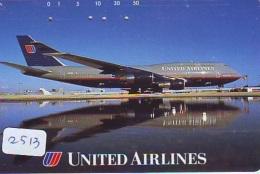 Télécarte  JAPON * UNITED AIRLINES *  (2513)  AVIATION * AIRLINE Phonecard  JAPAN AIRPLANE * FLUGZEUG - Avions