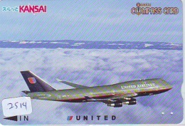 Télécarte  JAPON * UNITED AIRLINES *  (2514)  AVIATION * AIRLINE Phonecard  JAPAN AIRPLANE * FLUGZEUG - Avions
