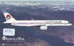 Télécarte  JAPON * AMERICA WEST *  (2521)  AVIATION * AIRLINE Phonecard  JAPAN AIRPLANE * FLUGZEUG - Airplanes