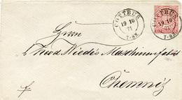 (Lo2562) Altdeutschland Brief NDP St. Cottbus N. Chemnitz - Germania
