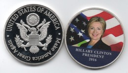 Pièce De Collection - Hillary Clinton - President 2016 - Etats-Unis