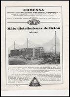 CATALOGUE   COMESSA     MATS  DISTRIBUTEURS  DE BETON - Vieux Papiers