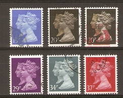 Grande-Bretagne 1990 - Elizabeth & Victoria - Série Complète° - 1434/8 + 1435e - Non Dentelé En Bas - 1952-.... (Elizabeth II)
