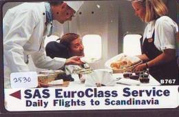 Télécarte  JAPON * SAS *  (2530) *  AVIATION * AIRLINE Phonecard  JAPAN AIRPLANE * FLUGZEUG - Avions