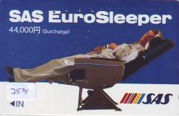 Télécarte  JAPON * SAS *  (2531) *  AVIATION * AIRLINE Phonecard  JAPAN AIRPLANE * FLUGZEUG - Avions