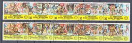 Filippine Philippines Philippinen Pilipinas 1980 - ROTARY 75th Anniv. 30s X 5, 2p30 X 5 Strips Of 5 - MNH** (see Photo) - Filippine