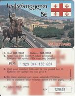 GREECE - Georgia/Sakartvelo, Amimex Prepaid Card 5 Euro, CN : 6 Digits(small), Used - Greece