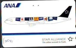 Télécarte  JAPON * ANA * (2541) *  AVIATION * AIRLINE Phonecard  JAPAN AIRPLANE * FLUGZEUG - Avions