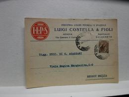 BOLZANETO   -- GENOVA --  LUIGI COSTELLA  E FIGLI -- INDUSTRIA PENNELLI  E SPAZZOLE - Genova (Genua)