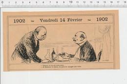 2 Scans Humour Oenologie Verre De Vin Armée Territoriale Moulin à Vent PF223B - Vieux Papiers