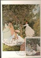 France & Postal Maximo, Claude Monet, Femmes Au Jardin, Paris 1972 (1703) - Art