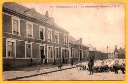Gouzeaucourt - Gendarmerie Nationale - Berger Avec Ses Moutons - Mouton - Paysan - Animée - Edit. J. D.V. - Marcoing