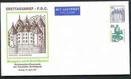 Bund PU128 D1/001 SCHLOSS GLÜCKSBURG FDC 1977 - Castillos