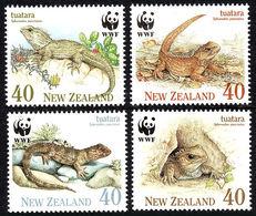 WWF - NEW ZEALAND - TUATARA  -  1991 -  4  V. -MNH  - - W.W.F.