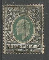 Edouard Vll 25c Noir Et Vert - Kenya & Uganda