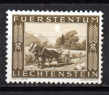Sello  Nº  196 Lietchtenstein - Caballos