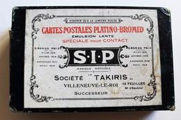 Rare Photographie Boîte Carte Postale Platino Bromid SIP Société Industrielle Photographique Takiris Villeneuve Le Roi - Supplies And Equipment