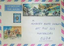 O) 1983 LIBYA -AFRICA NORTH, 2ND ISLAMIC SCOUT JAMBOREE-BATTLE OF EL MESHIASHTA-ZANZUR -COAT OF ARMS,AIRMAIL TO CARIBE - Libya