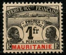 Mauritanie (1906) Taxe N 16 * (charniere) - Mauritanie (1906-1944)