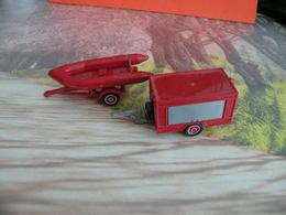 Véhicule De Pompier - Lot 2 Remorque Motopompe Schultz Et Zodiac  - 1/50 - SOLIDO France - - Pompiers
