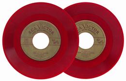 """S-177 USA 1950s. Red Music Record 45 E. Caruso """"Una Furtiva Lagrima""""-""""Parmi Veder Le Lagrime"""" RCA Victor 17-0131 - Vinyl Records"""