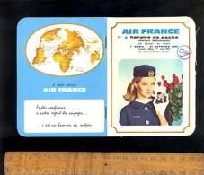 Horaire De Poche Compagnie Aérienne AIR FRANCE Au Départ De Tunis Tunisie Avril Octobre 1966 - Europe