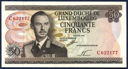 LUXEMBOURG 50 FRANCS P-55a GRAND DUKE JEAN STEELWORKERS 1972 UNC - Luxembourg