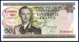 LUXEMBOURG 50 FRANCS P-55b GRAND DUKE JEAN STEELWORKERS 1972 UNC - Luxembourg