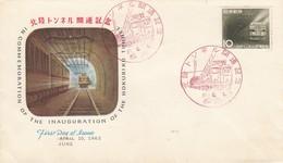 JAPAN - FDC COMMEMORATION HOKURIKU TUNNEL -  JUNE 10 1962  / 4 - FDC