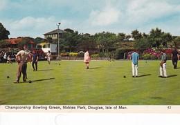 Postcard Championship Bowling Green Nobles Park Douglas Isle Of Man [ Bamforth ] My Ref  B12550 - Isle Of Man