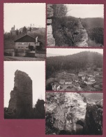 240918A - 5 PHOTOS 1961 - 54 PIERRE PERCEE Château Ruines Village - France