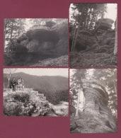 240918A - 4 PHOTOS 1961 - 54 PIERRE PERCEE Château Ruines Pierres De La Vierge - France