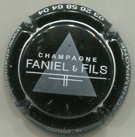 CAPSULE-CHAMPAGNE FANIEL J & Fils N°01c Noir, Gris & Blanc-NR - Champagnerdeckel