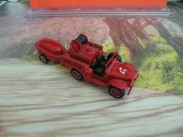 Véhicule De Pompier - Dodge 4x4 Avec Remorque Moto Pompe Guinard - 1/43 - SOLIDO FRANCE - N°61 - Pompiers