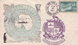 UNITED STATES NAVY, OPERATION DEEP FREEZE. OBLITERE NEW YORK, USS GLACIER 1960. USA- BLEUP - Spedizioni Antartiche