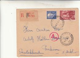 Paris To Parchim. Cover Registred 1944 - Storia Postale